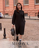 Стильное удобное платье с врезными карманами с 42 по 46 размер, фото 4
