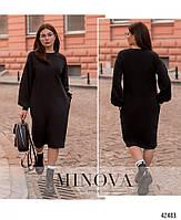 Стильное удобное платье с врезными карманами с 42 по 46 размер, фото 7