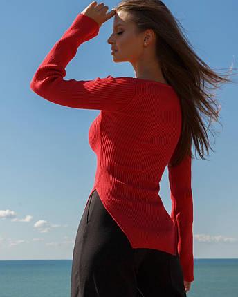 Топ женский трикотажный с длинным рукавом AniTi 600, красный, фото 2