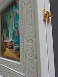 Киот из ясеня открывной 32х36см под иконы Двунадесятых праздников 13шт., фото 3