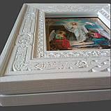 Кіот з ясена открывной 32х36см під ікони Дванадесятих свят 13шт., фото 2