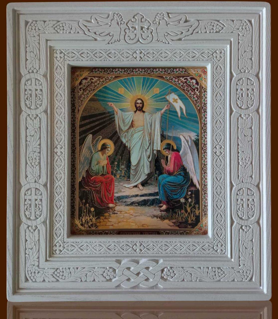 Кіот з ясена открывной 32х36см під ікони Дванадесятих свят 13шт.