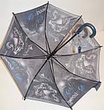 Детский черный зонт-трость для мальчиков Fiaba на 8 спиц, Мото, фото 2