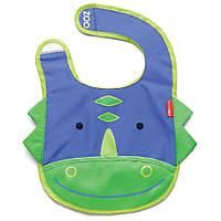 Слюнявчик детский Zoo Динозаврик синий (2309)