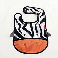 Слинявчик дитячий Zoo Зебра чорно-біла (2313-1)
