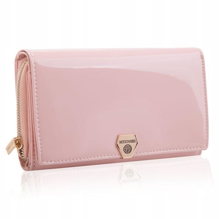 Жіночий шкіряний гаманець Betlewski з RFID 16 х 10 х 4 (BPD-VS-513) - бежевий