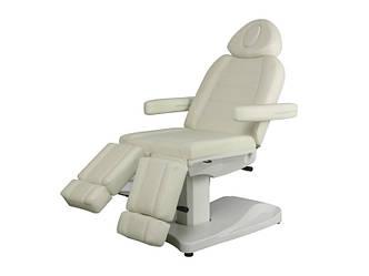 Педикюрное кресло электро кушетка педикюрная косметологическая с раздельной подножкой  мод 3803 АS (2 мотора)