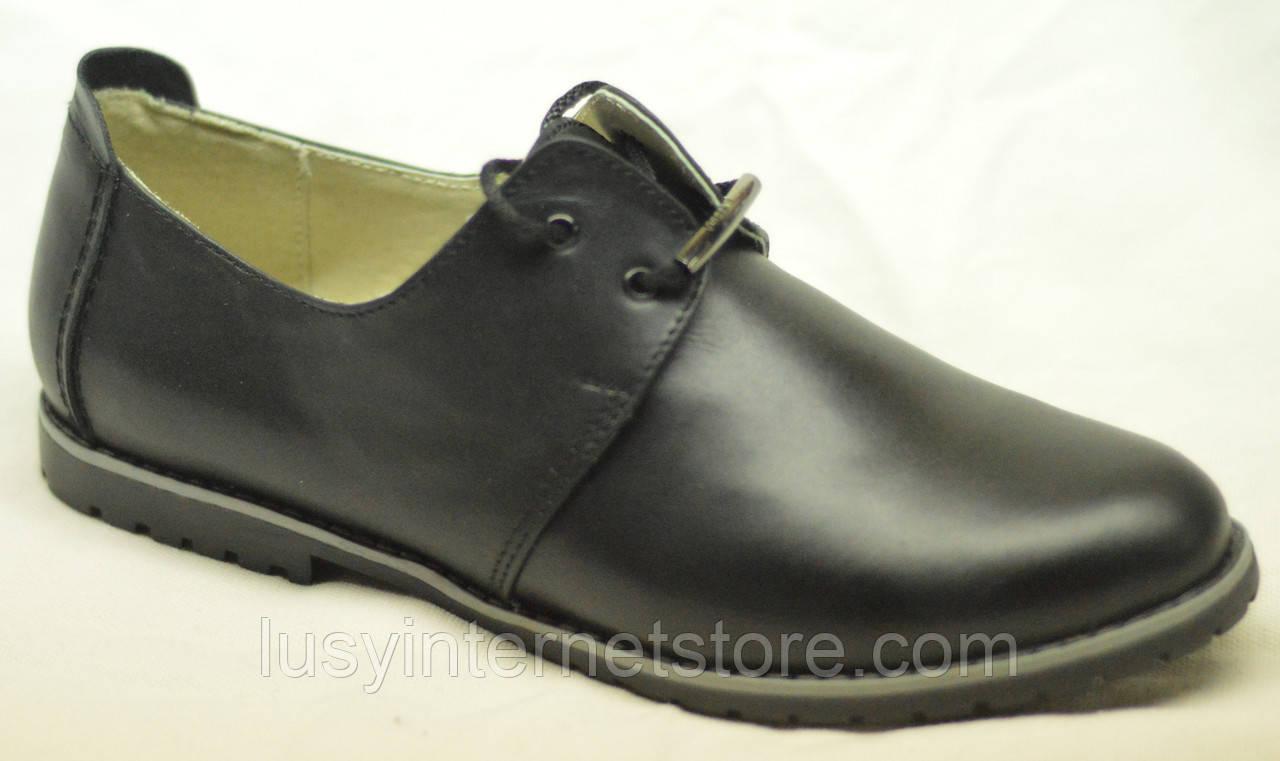 Туфли женские на низком ходу кожаные от производителя модель НТ10Р