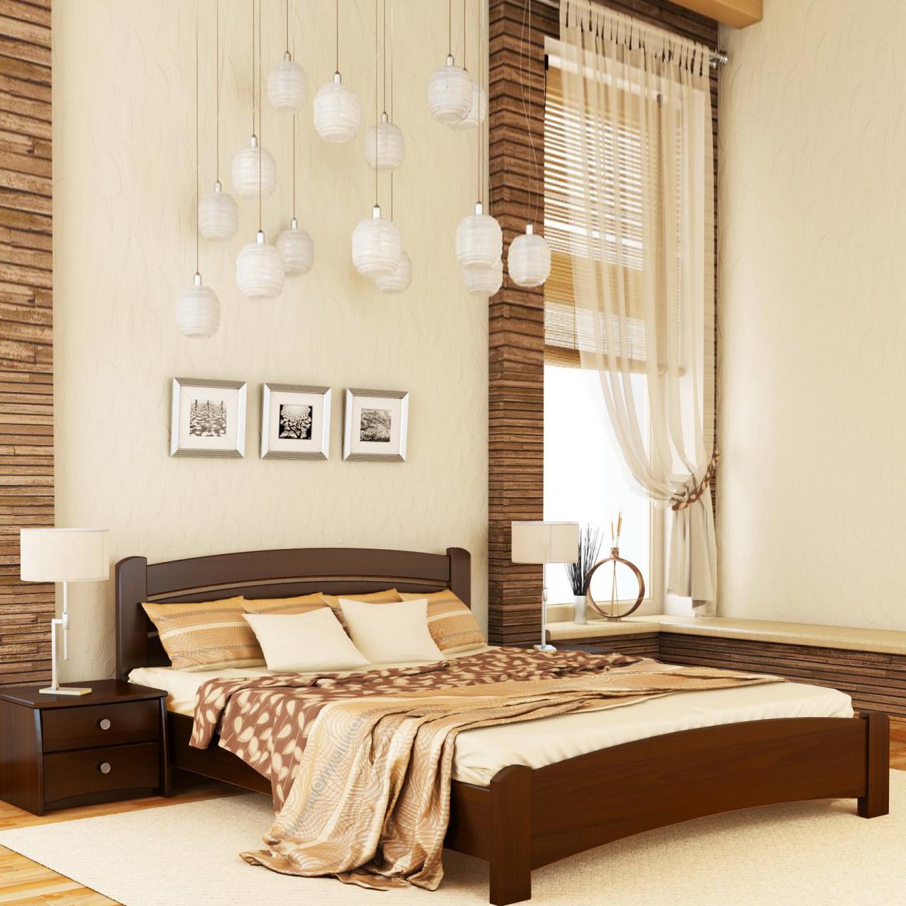 Ліжко дерев'яне Венеція Люкс (бук)