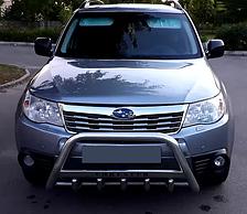 Кенгурятник с надписью на Subaru Forester (2008-2013) Субару Форестер