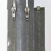 Металлические 5 разъемные молнии PRYM 30-80 см с автоматическим фиксатором, разные цвета Серый, 400
