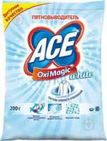 Пятновыводящее средство Ace Oxi Magic для белого 200гр удалять пятна и серый налет