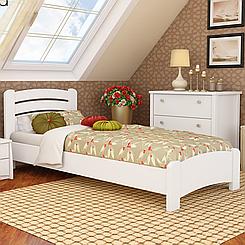 Кровать подростковая деревянная Венеция Люкс (бук)