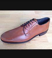 Чоловічі шкіряні туфлі рижого кольору.Виробництво Іспанії.Торгова марка BECCOL.