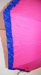 Детский розовый зонт-трость для девочек Star Rain с малиновыми оборками, на 8 спиц, фото 3