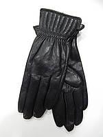 Шкіряні жіночі рукавички на шерсті(сітка) оптом