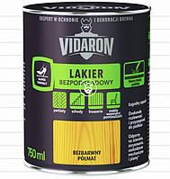 Лак для паркету без застосування грунтовки Vidaron напівматовий (0,75 л)