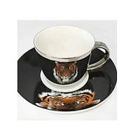 "Чашка с блюдцем анаморф ""Тигр"" 230мл R88433"