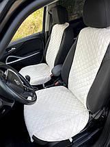 Накидка чехол на сидения автомобиля из Алькантары Эко-замша один универсальный защитный авточехол Айвори 1 шт, фото 2