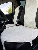 Накидка чехол на сидения автомобиля из Алькантары Эко-замша один универсальный защитный авточехол Айвори 1 шт, фото 3