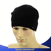 Мужская шапка на флисе Interlok Черная