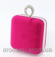Клатч велюровый розовый