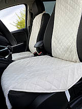 Накидки чехлы на сидения автомобиля из Алькантары Эко-замша два универсальные защитные авточехлы Айвори 2 шт, фото 3