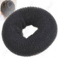 Бублик для волос черный d=8cm
