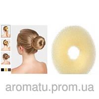 Бублик для волос бежевый d=8cm