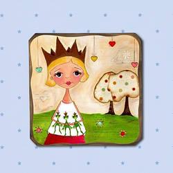 """Картина """"Влюбленная принцесса"""" оригинальный подарок"""