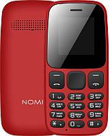 Кнопочный мобильный телефон Nomi i144c Dual Sim Red бюджетный телефон недорого дешево
