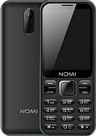 Кнопочный мобильный телефон Nomi i284 Dual Sim Black бюджетный телефон недорого дешево