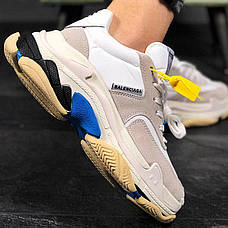 Женские кроссовки в стиле Balenciaga Triple s V2 White Blue ТОП-качество, фото 2