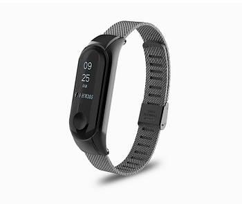 Ремешок Mesh steel design bracelet для фитнес-браслета Mi Band 3 и 4 Black New
