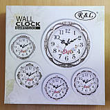 Часы настенные R&L 8002 30 см диаметр (белые), фото 2