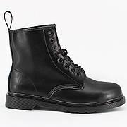 Женские ботинки в стиле Dr. Martens Original 1460 Mono Black c 8 парами люверсов