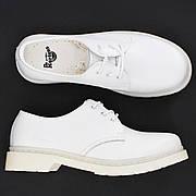 Женские кожаные полуботинки/туфли в стиле Dr. Martens 1461 Mono White