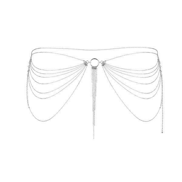 Ланцюжок трусики або ліф Bijoux Indiscrets Magnifique Waist Chain - silver, прикраса на тіло