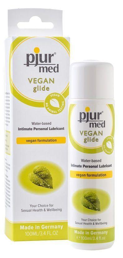 Лубрикант на водной основе pjur MED Vegan glide 100 мл - только веганские ингридиенты