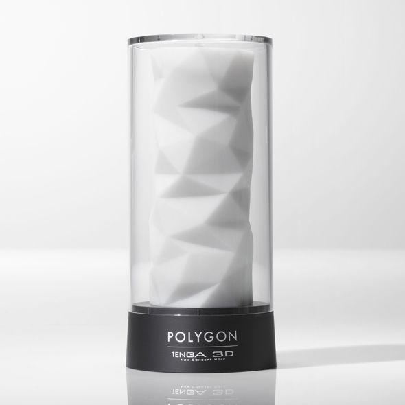 Мастурбатор Tenga 3D Polygon, дуже ніжний, з антибактеріального еластомеру з сріблом