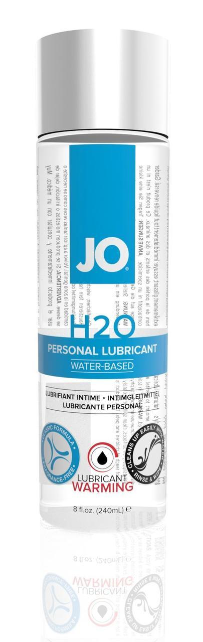 Согревающая смазка на водной основе System JO H2O WARMING (240мл) с экстрактом  перечной мяты