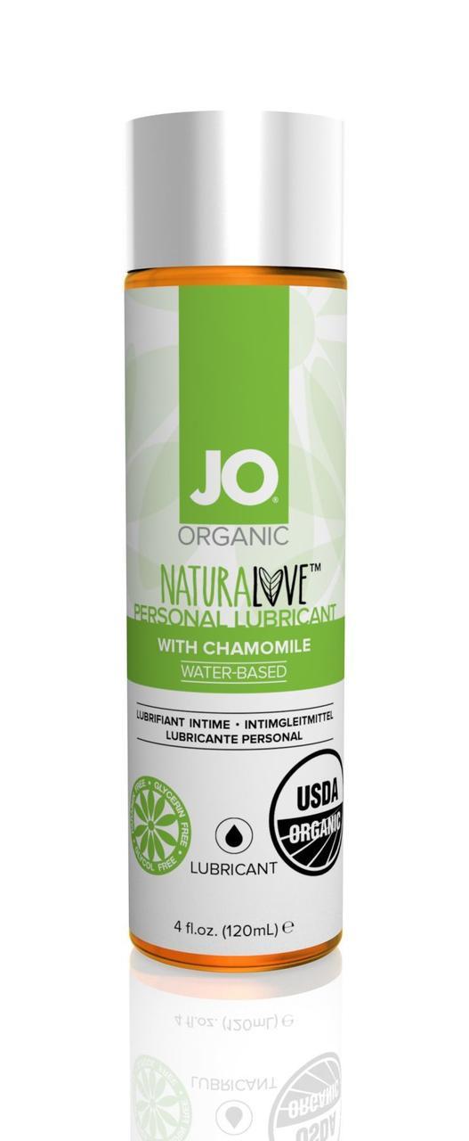 Смазка на водной основе System JO NATURALOVE - ORGANIC (120 мл) с экстрактом листьев агавы и ромашки