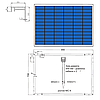 Солнечная батарея 110Вт поли, AX-110P AXIOMA energy