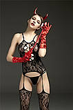 Бодистокинг сетка с вырезом S Чёрный ( 700 014 ), фото 6