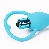 Силиконовая Анальная вибро игрушка, фото 8