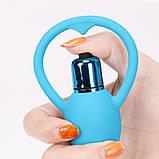 Силиконовая Анальная вибро игрушка, фото 10