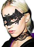 Женская карнавальная маска на глаза летучая мышь, фото 6