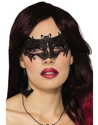 Женская карнавальная маска на глаза летучая мышь