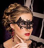 Женская карнавальная маска на глаза летучая мышь, фото 5