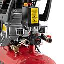 Компрессор 24 л, 1.5 кВт, 220 В, 8 атм, 206 л/мин. INTERTOOL PT-0009, фото 5